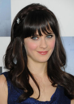 L'attrice Zooey Deschanel