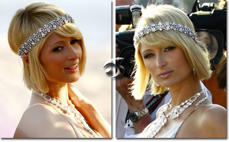 L'acconciatura di Paris Hilton