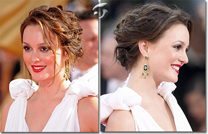 L'acconciatura dell'attrice Leighton Meester