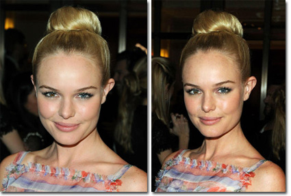 Lo chignon di Kate Bosworth