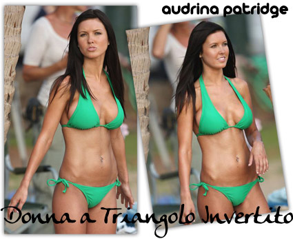 Audrina Patridge triangolo invertito
