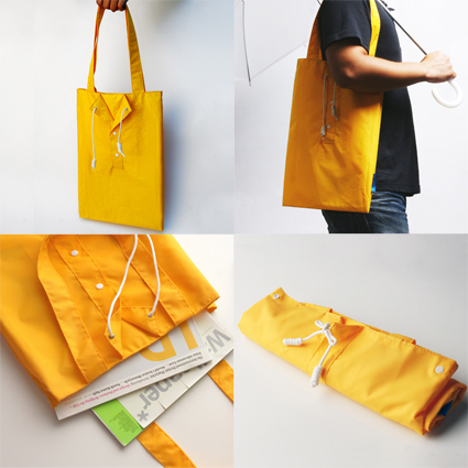 Raincoat bag by Megawing