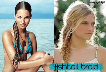 Treccia a spina di pesce o fishtail braid