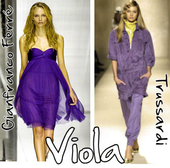 Tendenza fashion 2009: Viola