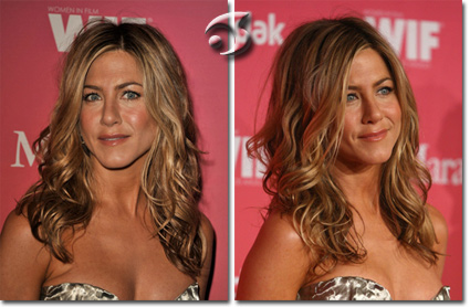 L'acconciatura sciolta e sensuale di Jennifer Aniston