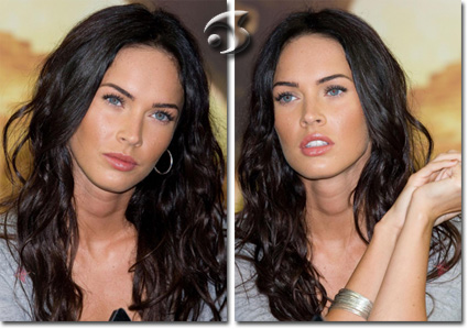 L'acconciatura dell'attrice Megan Fox